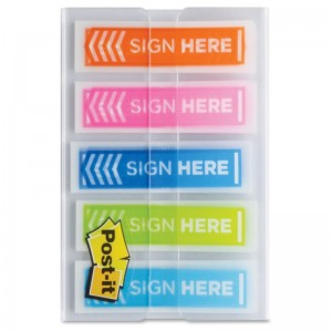 Sign Here Post-It Notes